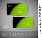 business card template with... | Shutterstock .eps vector #334918193