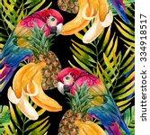 tropical background. seamless... | Shutterstock . vector #334918517