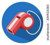 whistle icon | Shutterstock .eps vector #334923383