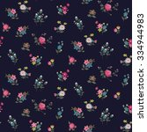 trendy seamless floral ditsy... | Shutterstock .eps vector #334944983