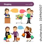 family shopping. people with... | Shutterstock .eps vector #334964507