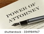 power of attorney document with ... | Shutterstock . vector #334984967