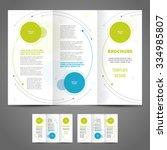 brochure design template rounds