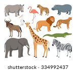 animals of africa set | Shutterstock . vector #334992437