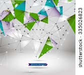 abstract polygonal background.... | Shutterstock .eps vector #335026823