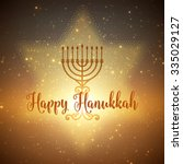 vector hanukkah background with ... | Shutterstock .eps vector #335029127