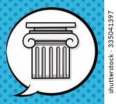 architecture doodle  speech... | Shutterstock .eps vector #335041397