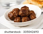 Hearty Meatballs Served In A...