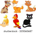 cartoon character pets | Shutterstock . vector #335060687