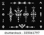 hand drawn tribal collection... | Shutterstock .eps vector #335061797