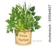 garden planter with fines... | Shutterstock . vector #335064827