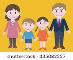 nuclear family illustration | Shutterstock .eps vector #335082227