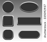silver button set for web... | Shutterstock . vector #335092937