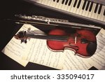 musical instruments with music... | Shutterstock . vector #335094017