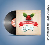 christmas song. vinyl record | Shutterstock .eps vector #335096027