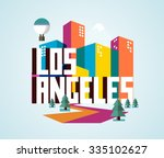 los angeles beautiful city in... | Shutterstock .eps vector #335102627