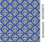 diamon shape ikat pattern
