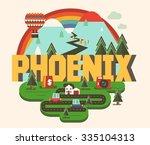 phoenix beautiful city in world | Shutterstock .eps vector #335104313
