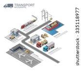 3d isometric transportation... | Shutterstock .eps vector #335118977