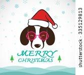 Vector Merry Christmas Greetin...