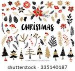 Christmas Set Of Plants With...