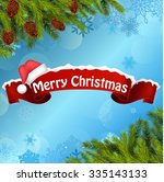 merry christmas background... | Shutterstock .eps vector #335143133