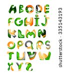 collection of alphabet letters... | Shutterstock .eps vector #335143193