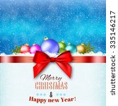 new year and merry christmas... | Shutterstock . vector #335146217