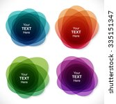 set of colorful round abstract... | Shutterstock .eps vector #335151347