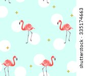 vector tropical exotic seamless ... | Shutterstock .eps vector #335174663