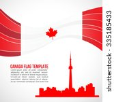 canada flag wave and the... | Shutterstock .eps vector #335185433