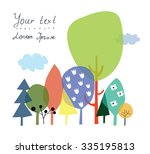 nature and forest background... | Shutterstock .eps vector #335195813