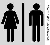 toilets glyph icon. style is... | Shutterstock . vector #335206937