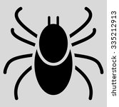 mite glyph icon. style is flat... | Shutterstock . vector #335212913