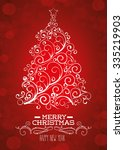 merry christmas colorful card... | Shutterstock .eps vector #335219903