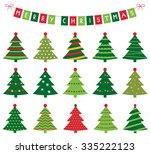 christmas trees and banner... | Shutterstock .eps vector #335222123