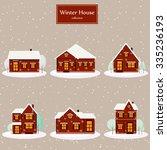 Winter House Collection. Vecto...