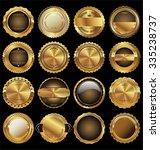 empty luxury golden labels... | Shutterstock .eps vector #335238737