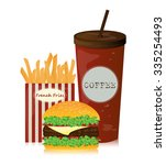 delicious of fast food set for... | Shutterstock . vector #335254493