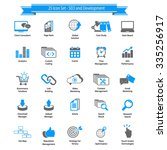 seo and development icons | Shutterstock .eps vector #335256917