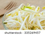 Mung Bean Sprouts In Glass Cup...