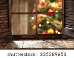 free space on window sill and...   Shutterstock . vector #335289653