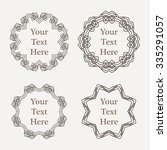 ornate richly decorated vintage ... | Shutterstock . vector #335291057