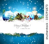 christmas greeting card with... | Shutterstock .eps vector #335291873