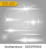 special line flare light... | Shutterstock .eps vector #335295503