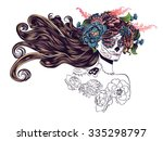 day of the dead illustration... | Shutterstock .eps vector #335298797