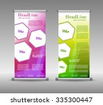 roll up banner abstract... | Shutterstock .eps vector #335300447