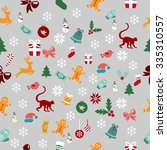 seamless pattern of the new... | Shutterstock .eps vector #335310557