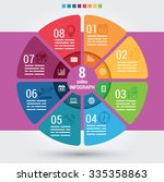 eight sides infographic... | Shutterstock .eps vector #335358863