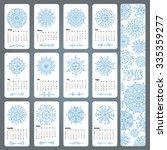 calendar 2016 new year... | Shutterstock .eps vector #335359277